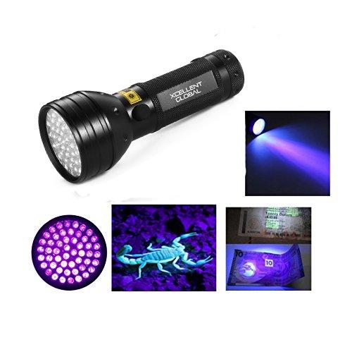 Xcellent Global 51 LED 395 nm Professional UV Ultraviolett Schwarzlicht Taschenlampe - Für Haustierurin , Falschgeld, Hotelzimmer Prüfung, Bettwanzen, Spot-Skorpione, Minerale, Undichtigkeiten PT008