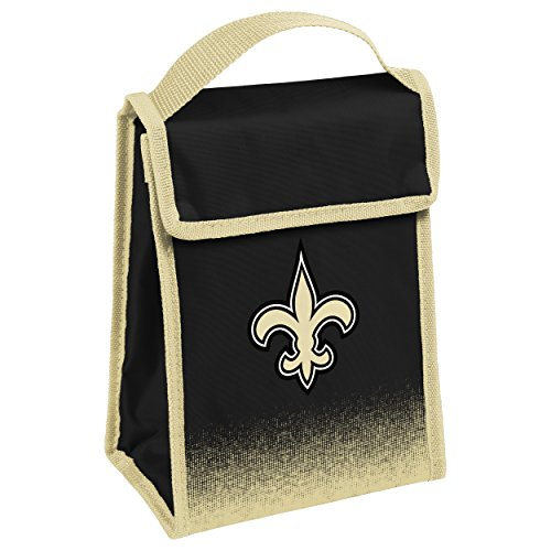 Bag Insulated Ncaa Lunch (FOCO New Orleans Saints Gradient Velcro Lunch Bag)