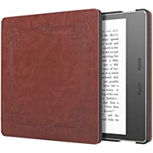 Moko Case for All-New Kindle Oasis (9th Generation, 2017 Release) - Slim Fit Premium PU Leather Protective Cover with Auto Wake/Sleep for Amazon Kindle Oasis E-Reader Case, Vintage Style