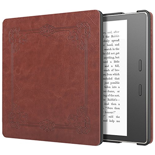 Moko Case for All-New Kindle Oasis (9th Generation, 2017 Release) - Slim Fit Premium PU Leather Protective Cover with Auto Wake/Sleep for Amazon Kindle Oasis E-Reader Case, Vintage Style by MoKo