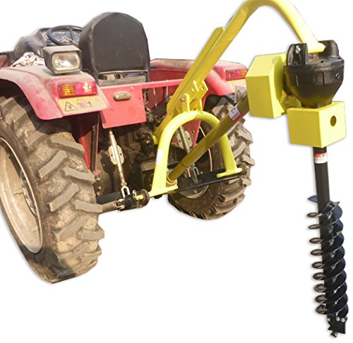 Titan 30HP HD Steel Fence Posthole Digger w/6″ Auger 3 Point Tractor Attachment