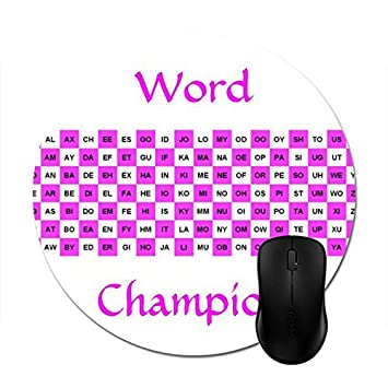 Starings Mouse Pads Two Letter Words Pink And White Intern Version Mouse Mat