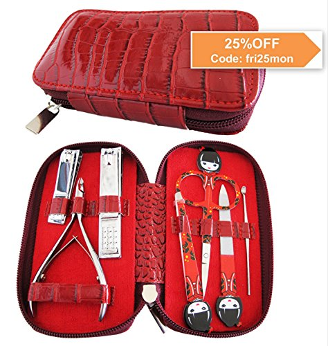 Sale Gifts - CYBER MONDAY DEAL MANICURE SET Salon quality nail kit with 7 essential stainless steel tools. Best Gifts For Women & Cool Stocking Stuffers BUY ON SALE NOW