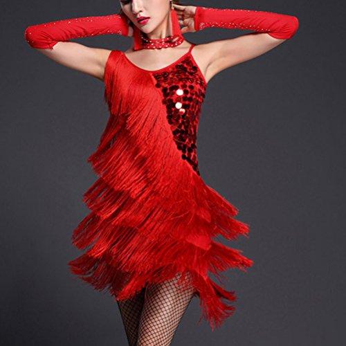 Nappa Latino Costume Xx Tango Ballo Partito Da Sala Danza Paillettes Zhuhaitf Da Rosso 005 In Concorrenza Vestito Di Donne qRXHA0x