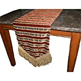 Canaan Company Rutland Decorative Table Runner 90'', Burgandy