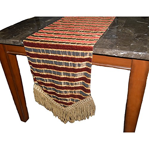 Canaan Company Rutland Decorative Table Runner 90'', Burgandy by Canaan