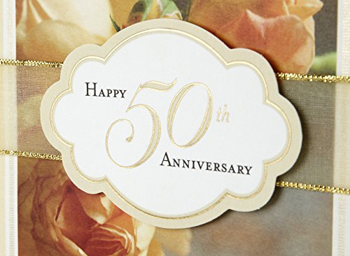 Hallmark 50th Anniversary Greeting Card (Roses) Photo #7
