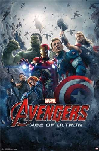 Avengers Age of Ultron Avengers 2 Movie Poster One Sheet Marvel Art Print