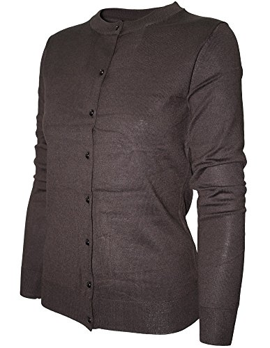 cielo-womens-round-neck-button-cardigan-large-brown