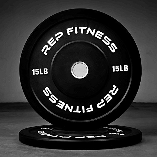 Rep Colored Bumper Plates for Strength and Conditioning Workouts and Weightlifting, 1-3 yr Warranty, No Odor (15.00) by Rep Fitness (Image #1)