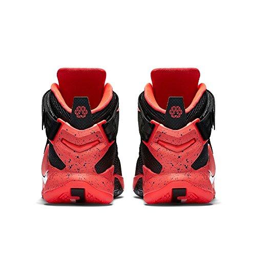 Nike Mens Lebron Soldat Ix Basket Sko Svart Vit Ljus Crimson 016