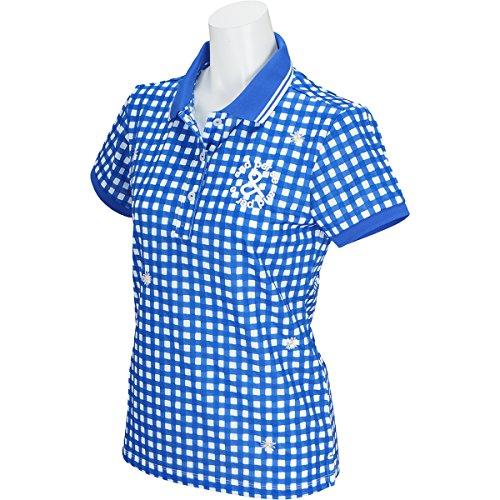 【レディース/女性用】 andperse(アンパスィ) 半袖ポロシャツ A9718FSP7 ブルー Mサイズ