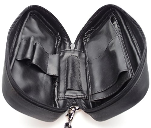 Tobacco Pipe Leather Case - 3 Pipes - Authentic Full Grade Leather - Black by Mr. Brog (Image #2)