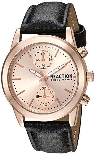 Kenneth Cole REACTION Women's Quartz Metal Casual Watch, Color:Black (Model: RK50108007)