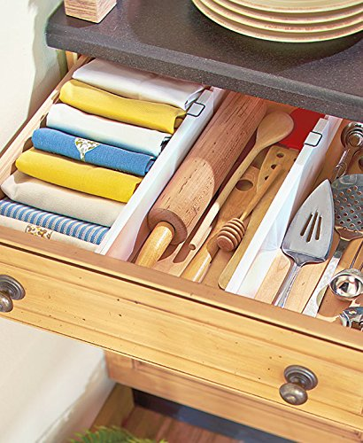 Set of 2 Snap-Fit Drawer Dividers