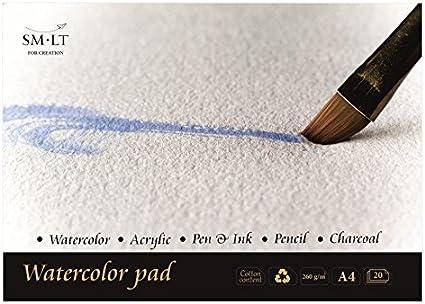 SM.LT 3 AS de 20 (260) English Watercolor Pads para acuarela (A3 ...