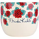 Cachepot de Cerâmica Frida Kahlo Beautiful Flowers Urban Branco