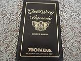 1991 Honda Aspencade Goldwing Gold Wing GL 1500 Owners Manual