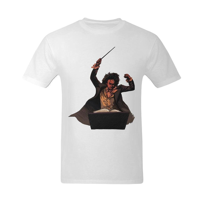 NeloimageMen Ludwig Van Beethoven Performance Image Design T-Shirt