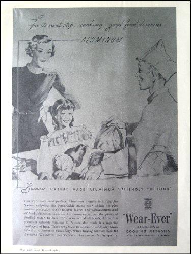 1936 Wear-Ever Aluminum Cooking Utensils Original Ad ()