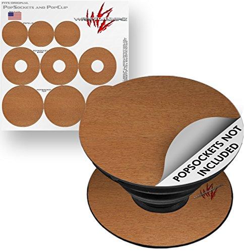 Oak 3 Grain - Decal Style Vinyl Skin Wrap 3 Pack for PopSockets Wood Grain - Oak 02 (POPSOCKET NOT INCLUDED) by WraptorSkinz
