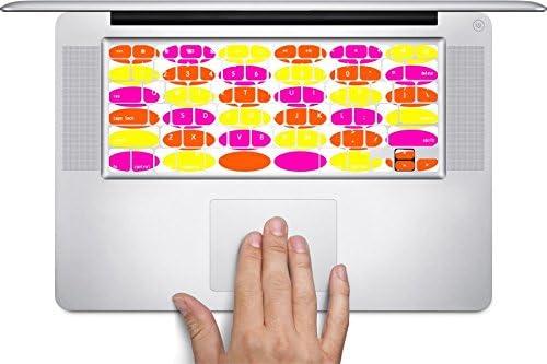Fun Dot Design Pink Orange Yellow Keyboard Decals by Debbies Designs for 11 inch MacBook Air