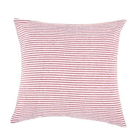 Linen Cotton Striped Pillow Case Throw PillowCase Square Case 45cm