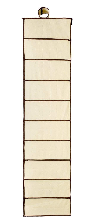 Royal Brands 10 Slot Pocket Hanging Shoe Organizer Rack Closet Storage Anti Mold Breathable Fabric Beige /& Brown