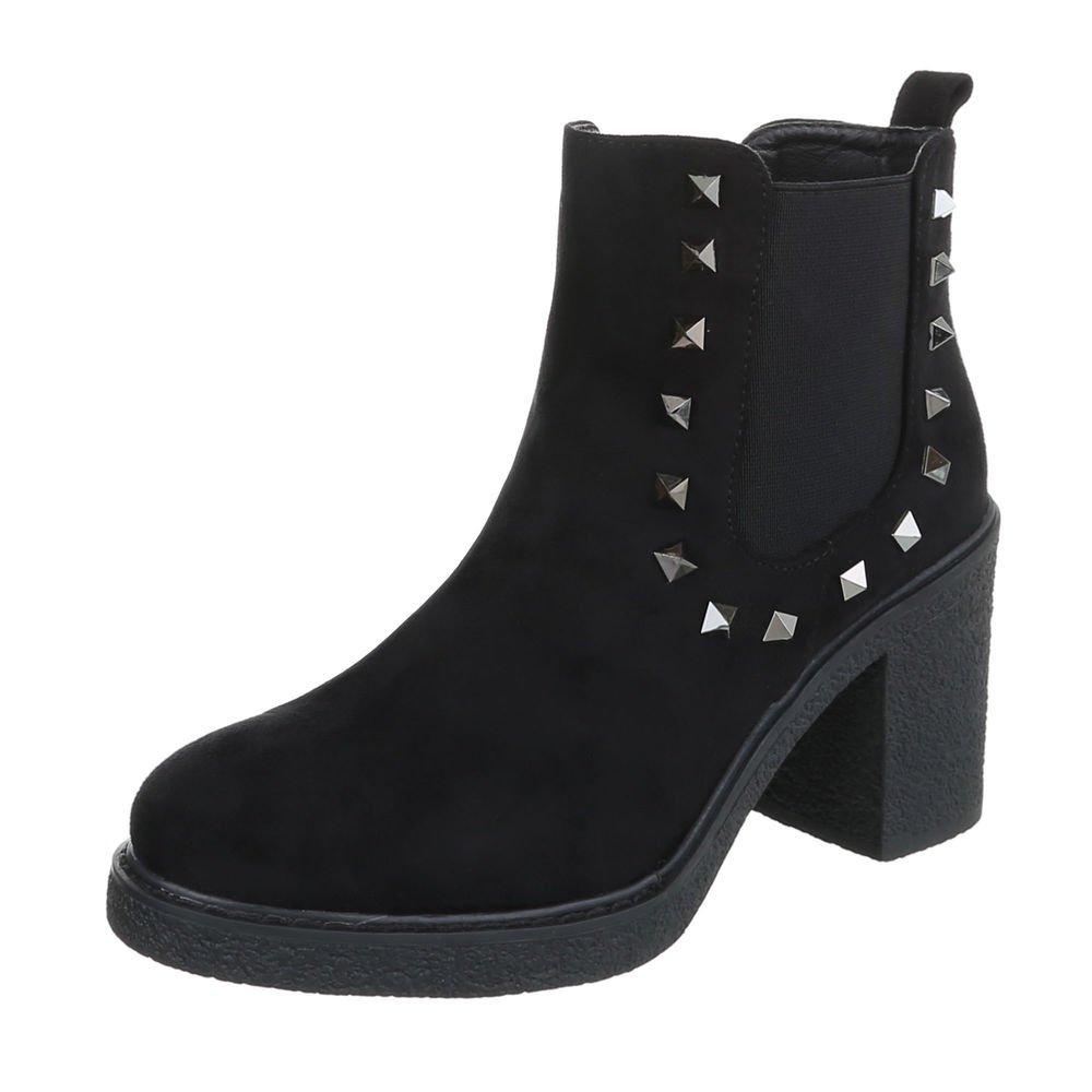 Zapatos para mujer Botas Mini tacón Botines camperos Negro Tamaño 37: Amazon.es: Zapatos y complementos