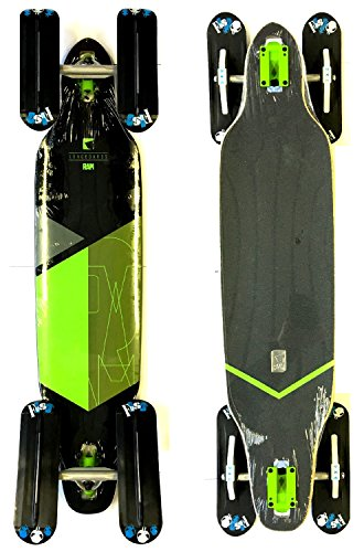 Snow RAM Longboard Solitary 2.0 drop-through + Fuse 4 x 4 Snowblades Blau (Grün)