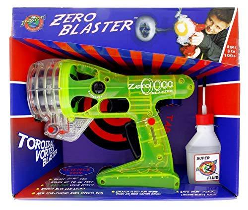 Green Zero Blaster - Blasts Smoke Rings Up To 12 Feet! -