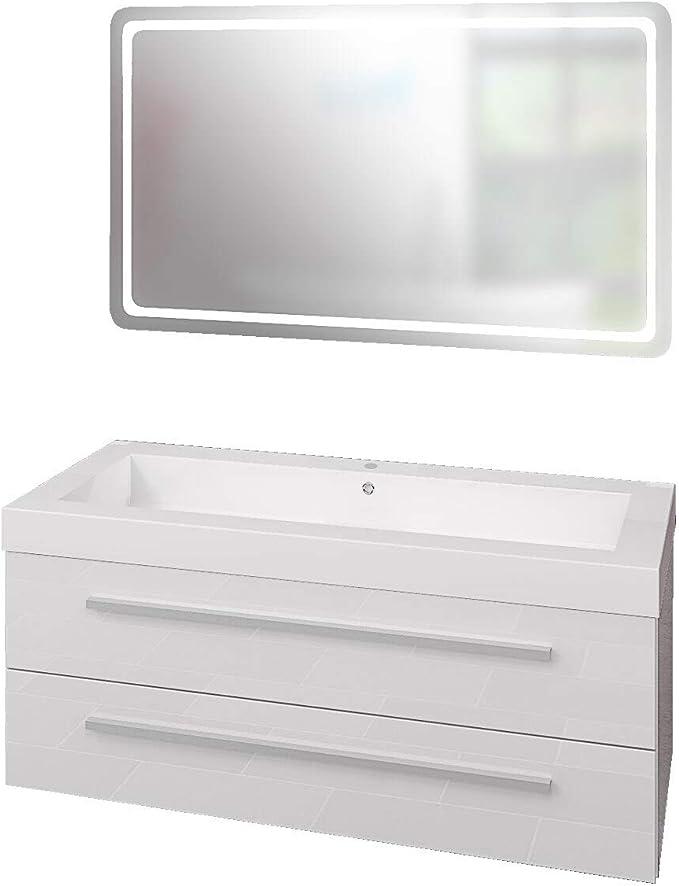 120 cm Waschtisch zwei Türen zwei Schubladen