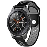 ieLive Compatible Samsung Galaxy Watch (46mm) Bands, 22mm Width Soft Silicone Sport Band Replacement Strap Quick Release Pin Compatible Samsung Galaxy Watch (46mm) SM-R800/SM-R805
