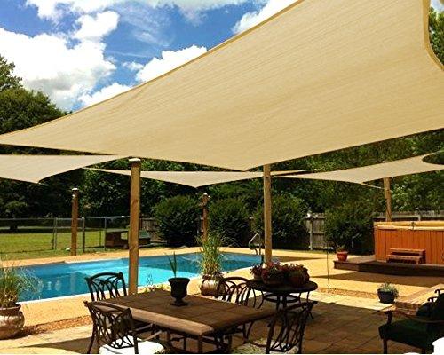 Cheap  Shade&Beyond 13'x20' Sun Shade Sail Rectangle UV Block for Patio Yard Deck..