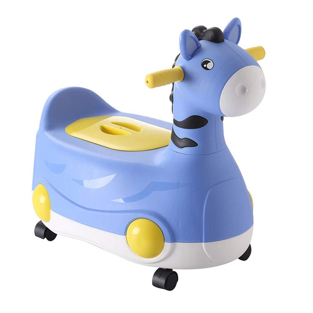 LWYJ Asegure Antideslizante C/ómodo Pony Silla del Fregadero del Asiento Inodoro Entrenador Orinal del beb/é Orinal del beb/é Orinal del beb/é con Ruedas