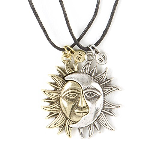 Claire's Girl's Best Friends Sun and Moon Pendant Necklaces in Gold/Silver (Sun Moon Pendant)