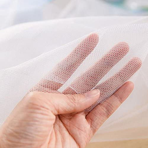 QIANDUOO 134*150cm Insect Mosquito DIY Net Fly Screen Window Mesh Net with Sticky Tape