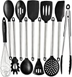 Silicone Cooking Utensils Kitchen Utensil set - 11 Stainless Steel Silicone Kitchen Utensils Set - Silicone Utensil Set Spatula Set - Silicone Utensils Cooking Utensil Set - Kitchen Tools and Gadgets