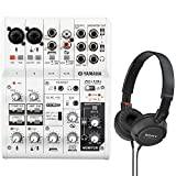 yamaha ag06 mixer - Yamaha AG06 6-Channel Mixer and USB Audio Interface Bundled with On-Ear Stereo Headphones