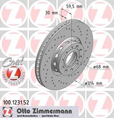 perforiert Sport Coat Z ZIMMERMANN 100.1231.52/vorne Bremse