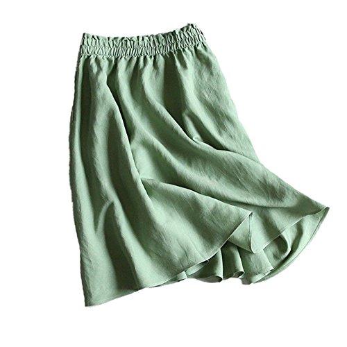 Gonna A Green Abbigliamento Elegante Cotone Tubino YUCH In Da YUCH Abito Casual Donna Summer Owtq8W48I