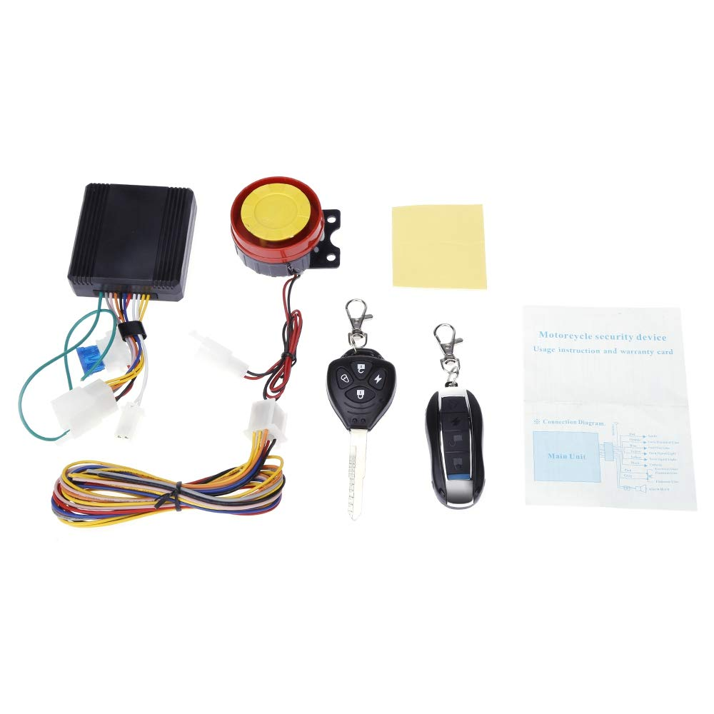 Universal One-way Motorcycle Anti-theft Security Alarm System 12V Double Flash