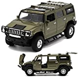 Berry President(TM) 1:32 Hummer H2 SUV Die Cast Toy Car Pull Back With Sound and Light(GREEN)