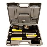 7 Pieces Fiberglass Auto Body Repair Tools Fender Tool Kit Hammer Dolly Dent Bender