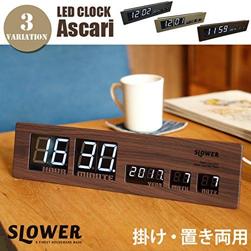 LED CLOCK Ascari(LEDクロック アスカリ) WOOD B073XJTZYRWood