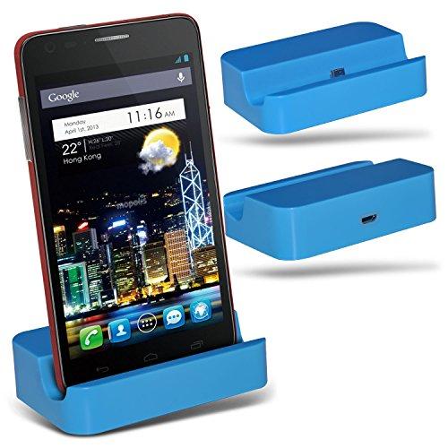 (Baby Blue)LG Optimus Vu II F200 Micro USB Desktop Dock Docking Station Charging Mount Stand By ONX3®