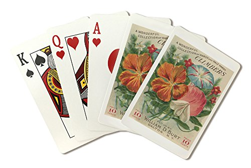 Climbers - Vintage Seed Packet (Playing Card Deck - 52 Card Poker Size with Jokers)