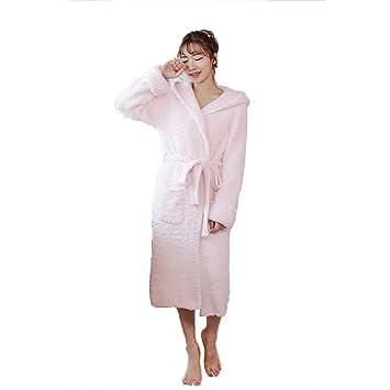 Pijamas Para Mujer Albornoz Toalla De Baño Batas Coral Fleece Acolchado Cálido Servicio A Domicilio Lindo Dulce Casual Bolsillo: Amazon.es: Hogar