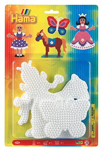 (Hama Beads Princess, Horse & Butterfly Pegboard Set)