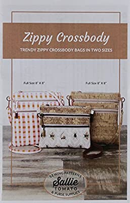 """Zippy Crossbody Bags pattern by Sallie Tomato ~ 8/"""" x 8/"""" or 6/"""" x 8/"""" Completed"""